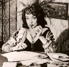 """Marlene Dietrich as the fortune teller in """"Touch of Evil"""""""