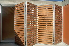 Discover thousands of images about Contraventana corredera / en madera - Volets coulissants bois - Tamiluz Office Screens, Burglar Bars, Wood Blinds, Folding Doors, Fence Design, Windows And Doors, Shutters, Garage Doors, House Design