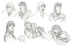 I think the last one is my favorite of Kristoff's faces (Frozen | Kristoff by Jin Kim)