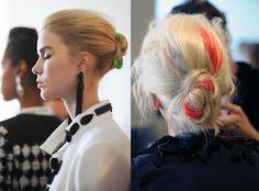 Love these clip-in strands seen on the runway for Oscar de la Renta Resort 2013