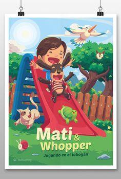 "查看此 @Behance 项目:""Mati&Whopper""https://www.behance.net/gallery/42820507/Mati-Whopper"