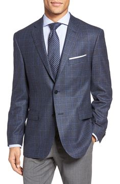 J.B. Britches Classic Fit Plaid Wool Sport Coat available at #Nordstrom