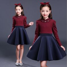 2018 Girls Lace Turtleneck Dress Winter Autumn Ball Gown Dress Long Sleeve Warm Outerwears robe fille For 2 4 6 8 10 12 Years Girls Dresses Sewing, Girls Spring Dresses, Dresses Kids Girl, Winter Dresses, Girl Outfits, Dress Winter, Winter Maternity Outfits, Winter Outfits Women, Frock Patterns