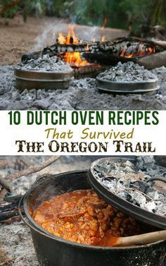 Cooking on the trail was not easy and the pioneers learned by trial and error.They built campfires twice a day (in the morning and at night) using what fuel