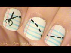 Back To School Nail Art. Genius! so cute