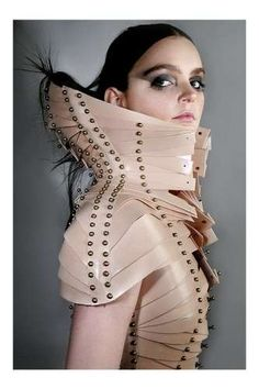 Fashionable Prosthetics - Una Burke's Constricted Creations Are Inspired by Medical Braces (GALLERY)