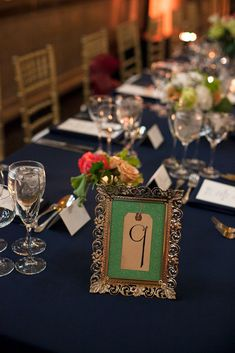Table Numbers | Brilliant Event Planning | Kelly Guenther