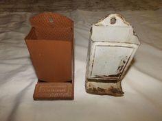 ANTIQUE TIN MATCH BOX HOLDERS 2