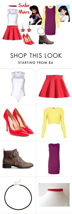 """""""sailor mars outfits"""" by lizzynupa ❤ liked on Polyvore featuring Toy G., H&M, Gianvito Rossi, Topshop, DKNY and ASOS"""