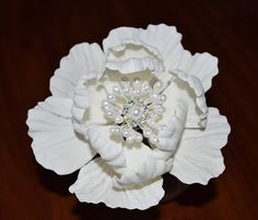 This sale is for: 1 ~ 5 Peony. Each petal is cut, veined, wired and dusted with petal dust for a beautiful life like look. This is a custom made