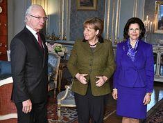 King Carl Gustaf, Angela Merkel and Queen Silvia