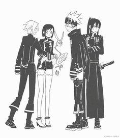 allen, lenelee, timcanpy, lavi and kanda from d.gray-man #anime