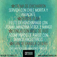 Estos días en #EntornoCondesa tenemos una chef invitada que nos presenta estos platillos. ¿Qué te parecen?  Te invitamos a que los pruebes en Mazatlán 138.