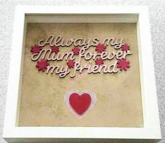 Personalised Frames, Handmade Frames, Handmade Gifts, Day, Unique Jewelry, Crafts, Craft Frames, Kid Craft Gifts, Manualidades