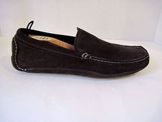 BANANA REPUBLIC MEN'S BROWN SUEDE DRIVING LOAFERS SIZE 10.5 M #BananaRepublic #DrivingMoccasins