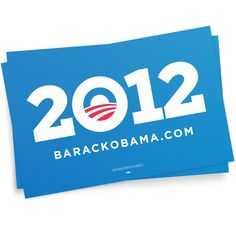 OBAMA 2012 PLACARD COMBO PACK  #Obama2012  Put our 2012 placards in your window to show your community you're an Obama-Biden supporter.2 for $12. Made in the USA. 11'' X 17''  $12