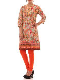 Shop Pink Cotton Straight Kurta online at Biba.in - ARABIANNIGHT#10818PNK