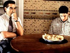 American Pie  funny scene  Jim's dad to Jim: I never did it with baked goods. We'll just tell your mother that we ate it all.