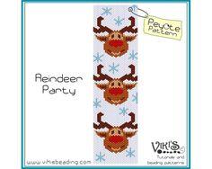 Peyote Pattern bracelet Reindeer Party   by VikisBeadingPatterns, $6.50