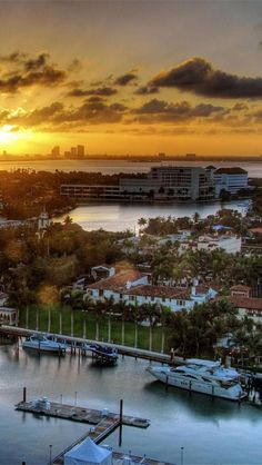 Venetian Islands, Biscayne Bay, Miami, Florida. Go to www.YourTravelVideos.com or just click on photo for home videos and much more on sites like this.