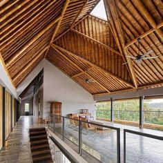 Bamboo construction is used to create a complex roof incorporating four chimney-like skylights at this house in the Balinese village of Kelating designed by Indonesian architect Budi Pradono. Find our more on http://ift.tt/1RayTxi #architecture #indonesia #bamboo - Architecture and Home Decor - Bedroom - Bathroom - Kitchen And Living Room Interior Design Decorating Ideas - #architecture #design #interiordesign #homedesign #architect #architectural #homedecor #realestate #contemporaryart…
