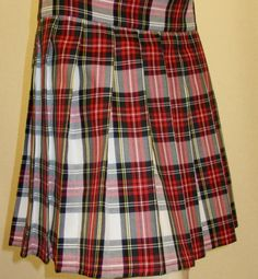 Dress StewartPink Plaid Pleated SkirtSmall to Plus Size