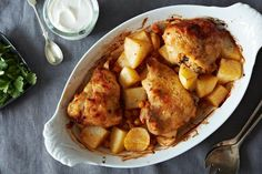 Extraordinary Marinated and Roasted Chicken, Potatoes, and Chickpeas Recipe on Food52: http://food52.com/recipes/25866-extraordinary-marinated-and-roasted-chicken-potatoes-and-chickpeas #Food52