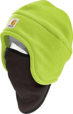 Carhartt Men s High-Visibility Color Enhanced Fleece 2-in-1 Hat 46da0ad582cc