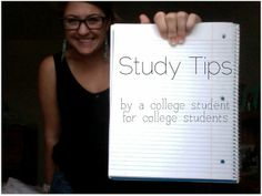 College student study tips from an honors student, these are also good advice for high school students to make good habits early.