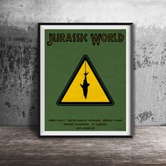 Movie poster printJurassic World-alternative movie by OandBstudios