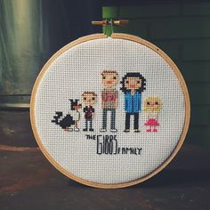Custom Cross Stitch Family Portrait by Motorthread on Etsy