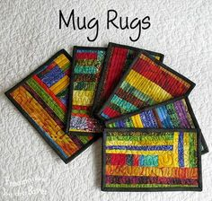 Scrappy mug rugs at Freemotion by the River
