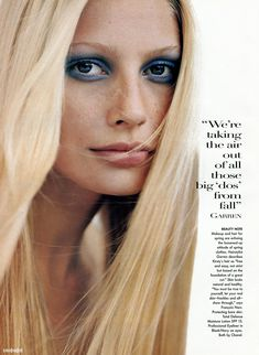 "Kirsty Hume in ""Fashion Loosens Up"" by Steven Meisel for Vogue US January 1996"