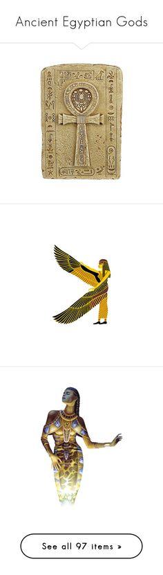 """Ancient Egyptian Gods"" by nafretiri-mutnodjmet ❤ liked on Polyvore featuring egypt, backgrounds, women, fantasy, femme, figure, goddess, gods, god and photo"