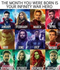 I got Bucky. so I have a very tragic backstory and memory issues. Couldn't it be birthday month = avengers boyfriend <<<Tony Staaark<<<<<Yasssss! I got Gamora! Avengers Humor, Marvel Jokes, The Avengers, Films Marvel, Funny Marvel Memes, Dc Memes, Marvel Dc Comics, Marvel Heroes, Funny Memes