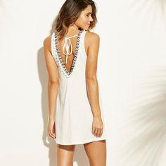 ca21b1987ca3f Women's Knit Trim Back Tank Cover Up Dress - Xhilaration™ White : Target Swim  Cover
