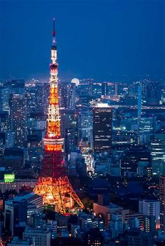 Photograph Tokyo Tower in the blue hour by Richard Brown on 500px