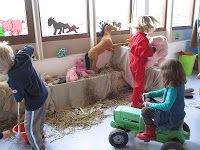 Poppenhoek - op de boerderij Fantasy House, Farm Theme, Craft Corner, Farm Animals, Kindergarten, Preschool, Nursery, Kids, Handmade
