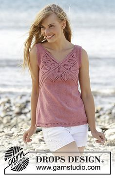 Ravelry: 170-4 Butterfly Heart Top pattern by DROPS design