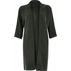 Khaki green slouchy kimono