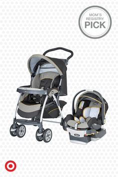 The Chicco Cortina KeyFit 30 Travel System, a Mom's Registry Pick, is built for life on the go with Baby. It includes a LATCH-compatible KeyFit 30 infant car seat with energy-absorbing foam, plus a stroller with all-wheel suspension, multiposition reclining seat and shock-absorbing, swivel front wheels. Stylish and dependable, it may be just what you need.