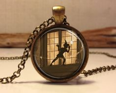 Peter Pan Jewelry, Peter Pan Necklace Peter Pan art pendant jewelry This listing is for a handmade vintage style jewelry pendant. I make all