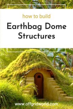 This little earthbag dome could be used as a shed, shelter, above ground root cellar, or playhouse, among other things. With a little ingenuity and creative thinking, one can easily see how this type of structure could be scaled up to build a larger sized home. #earthbag #earthbagdome #sustainable #offgrid #sustainablehomes Dome Structure, Living Roofs, Root Cellar, Large Homes, Creative Thinking, Bunker, Sustainable Living, Permaculture, Play Houses