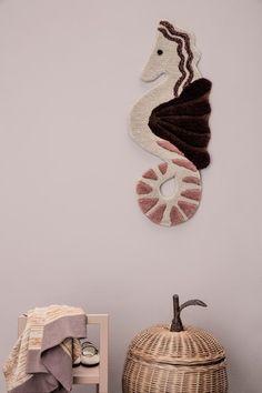 'Seahorse Tufted Wall/Floor Rug by Ferm Living. Kids Bedroom Furniture, Inspiration For Kids, Nursery Inspiration, Burke Decor, Modern Kids, Nordic Design, Modern House Design, Danish Design, Montenegro