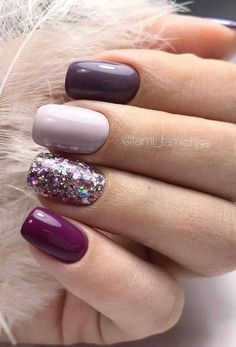 Semi-permanent varnish, false nails, patches: which manicure to choose? - My Nails Classy Nails, Stylish Nails, Trendy Nails, Cute Acrylic Nails, Cute Nails, Purple Gel Nails, Nagellack Design, Dipped Nails, Powder Nails