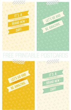 Free Postcard Quotes Printables