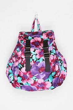 Deena & Ozzy Floral Tech Backpack - Purple - One Size Girly Backpacks, Blue Corset, Cute Bags, Fashion Backpack, Purses And Bags, Urban Outfitters, Floral Tops, Purple, Viola