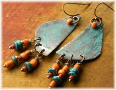Love these simple tribal earrings by Goria Ewing :)