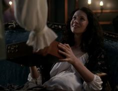"""Claire Fraser (Caitriona Balfe) in Episode 205 """"Untimely Resurrection"""" of Outlander Season Two on Starz"""