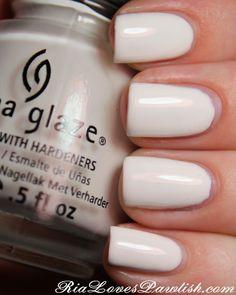 China Glaze White On White, my favorite white nail polish of all times...
